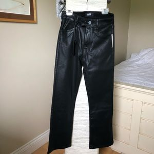 Brand new Paige leather feel jeans